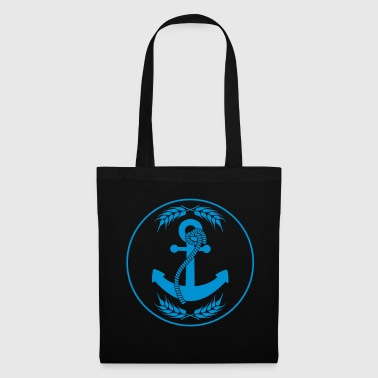 emblem circle shield round anchored anchor throw par - Tote Bag