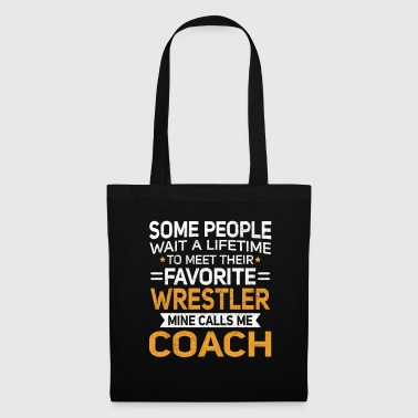 Baseball Lifetime to Meet Fave Wrestler Calls Me Coach T Shirt - Tote Bag