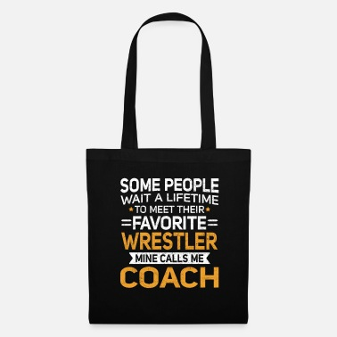 Softbol Lifetime to Meet Fave Wrestler me llama entrenador T Shirt - Bolsa de tela
