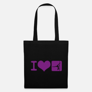 Pole Dance I love Pole Dance Pole Fitness Cadeau - Tote Bag
