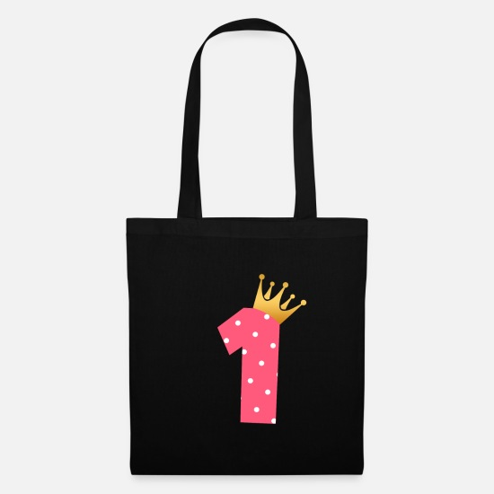 1st Birthday Bags & Backpacks - Baby 1st birthday first birthday present - Tote Bag black