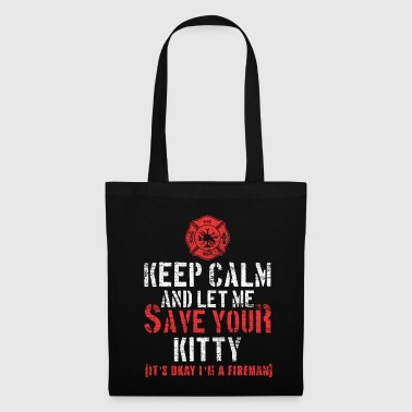 Pompier pompier chat kitty profession - Tote Bag