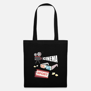 Film Cinema Is My Sport - Funny Movie Fan Shirt - Tote Bag