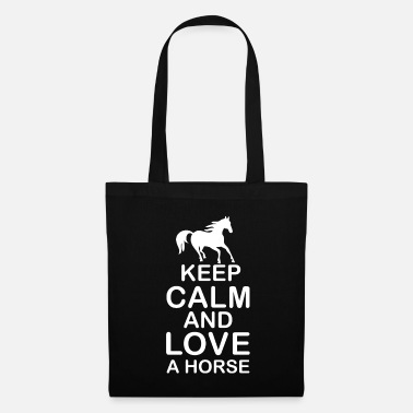 Foal T-shirt saying Keep Calm And Love A Horse Gift - Tote Bag