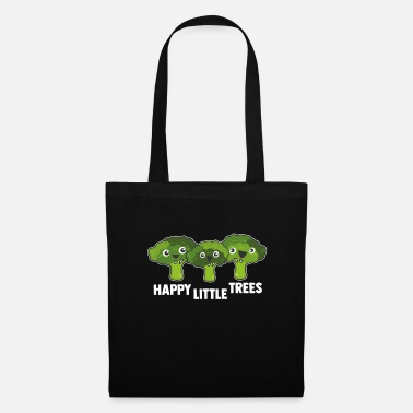 Broccoli Happy Little Broccoli Trees Vegan Food - Tote Bag
