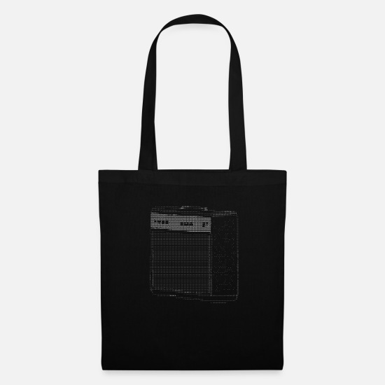 Studio Bags & Backpacks - Ascii Code Art - AMP / Amplifier - Tote Bag black