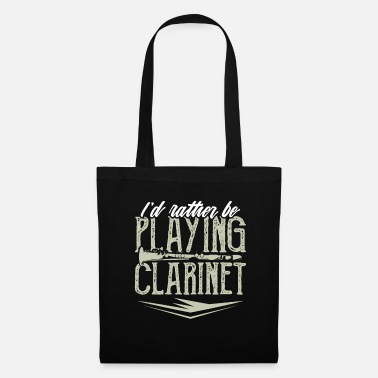 Soprano Clarinet player wind instrument flute gift - Tote Bag