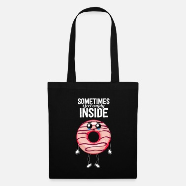 Moody Donut Sad Empty Cookie Candy Funny - Tote Bag