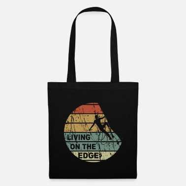 Tourist Living on the edge - climbing, bouldering, climbing - Tote Bag