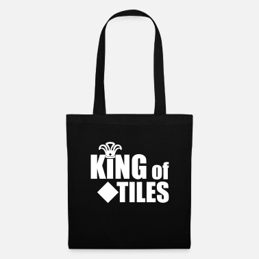 Byggnadsarbetare King Of Tiles T-Shirt & Gift Occupation - Tygväska