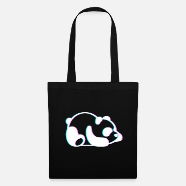 Anaglyph Lazy Panda Cute 3D Anaglyph Retro Vintage - Tote Bag