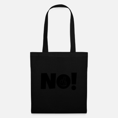 Middle Finger NO! Middle finger stinky finger - Tote Bag