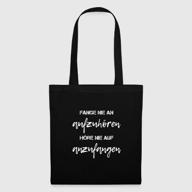 Poetry Lettering Proverbs Statement - Tote Bag
