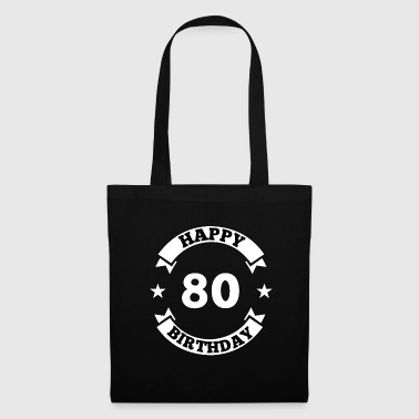 80th Birthday Happy Birthday - Tote Bag