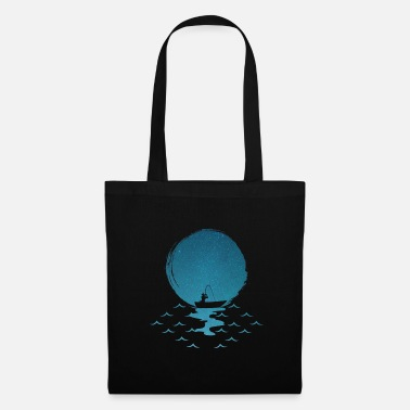 North Sea Fishing rod fishing boat fisherman angler fishing - Tote Bag