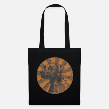 Circus Labrador in Circus Style with Washed Effect - Tote Bag