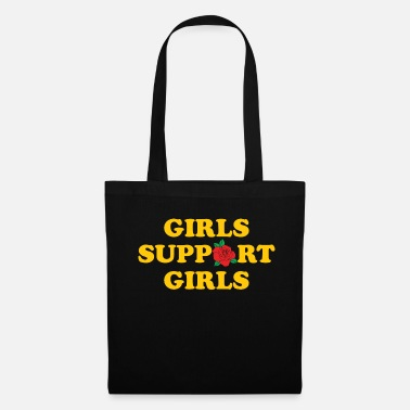 Red Rose Girls Support Girls - Tote Bag