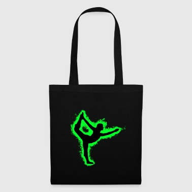 Shade Silhouette Pilates Green and Black Outline - Tote Bag