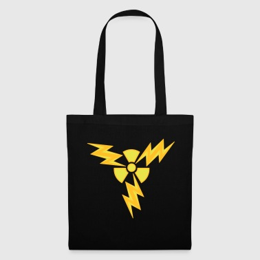 atom radioactive nuclear power electric shock hazard - Tote Bag