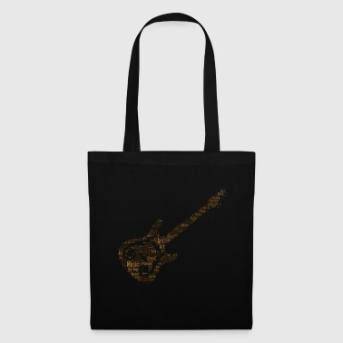 Conception de guitare en brun - Tote Bag