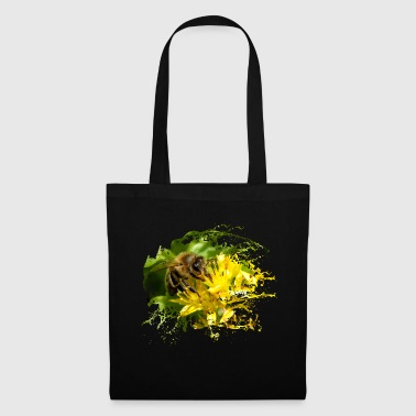 Bees pollinate plants and produce sweet honey - Tote Bag