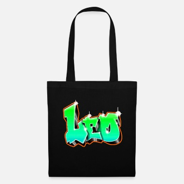 Prénom Leo Graffiti Green - Tote Bag