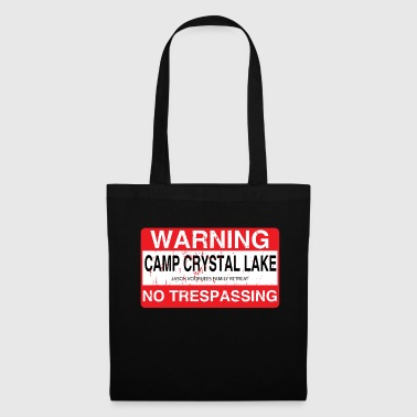 Roadsign Crystal Lake Camp No Trespassing - Tote Bag