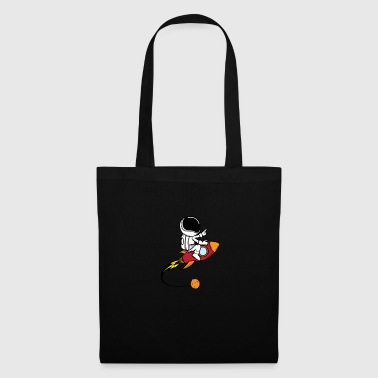 Infinity Astronaut on rocket - Tote Bag
