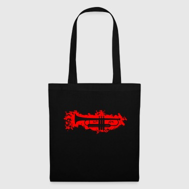 Fanfare Trumpet stain outline red - Tote Bag