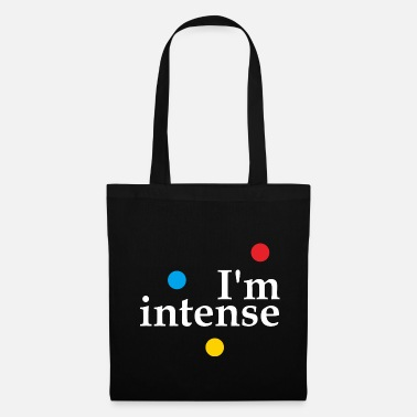 Hipster I'm Intense Slogan Graphic - Tote Bag
