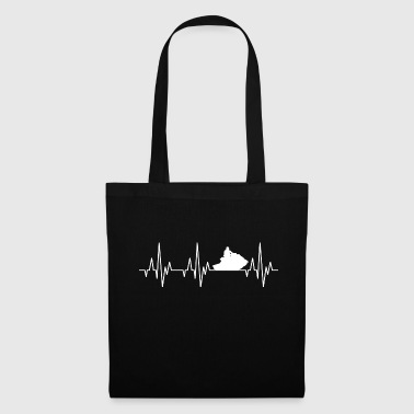Heartbeat ECG Water moto Jet boat Sports nautiques - Tote Bag