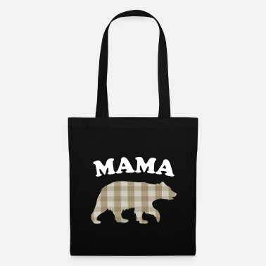 Carreaux maman ourson - fourrure à carreaux marron - Tote Bag