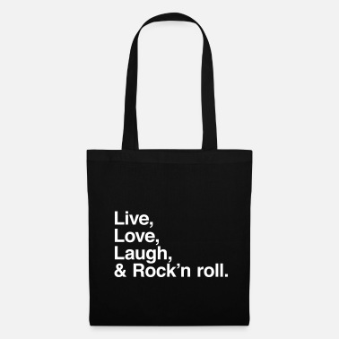 Rock And Roll live love laugh and rock and roll - Tote Bag