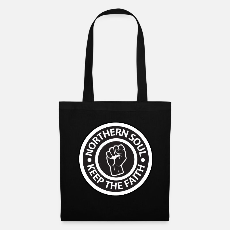 Soul Bags & Backpacks - Northern Soul - Keep the Faith logo - Tote Bag black