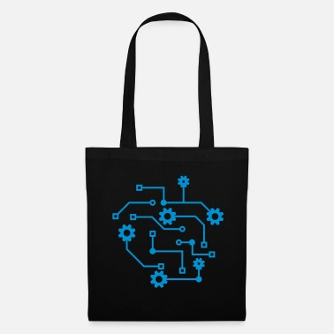 Electrical Engineering circuit mechanical microchip data electric - Tote Bag