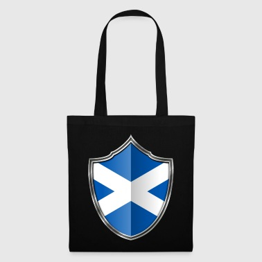 Scottish Scotland Flag Coat of Arms Silver 015 - Tote Bag