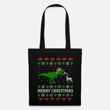 Christmas Lustiges T-Rex Ugly Christmas Weihnachtsgeschenk - Stoffbeutel