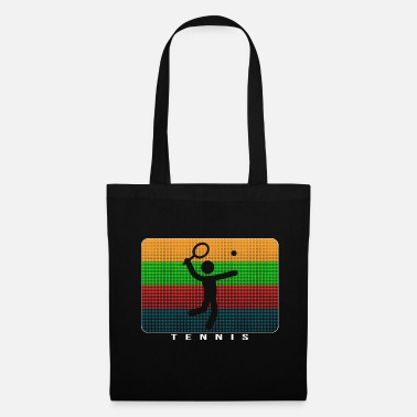 Pop Art Tennis - Dynamic Pop Art Design - Tote Bag