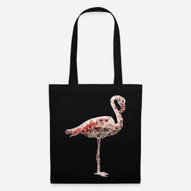 Perroquet Flamant rose polygone mosaïque rose - Tote Bag