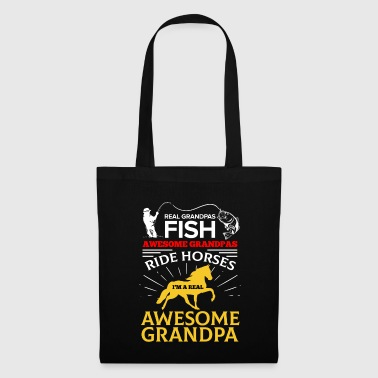 Gallop Real Grandpa Fish Awesome Grandpa Ride Horses - Tote Bag