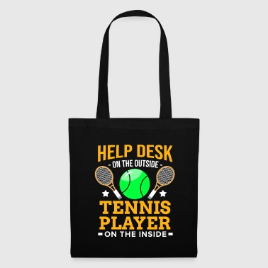 Computer Science tennis player Racket Ball Match Court Help Desk - Tote Bag