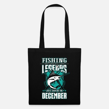 Karp Fiske Legends Född December Fisherman Fish Gift - Tygväska