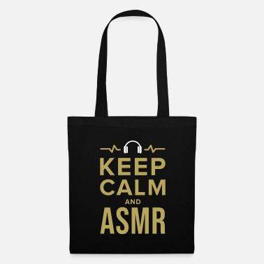Keep Calm ASMR Relaxe Relaxeation Whisperer Tingle Gift - Borsa di stoffa