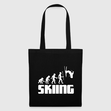 Jumping Evolution skier skiing winter sport snow - Tote Bag