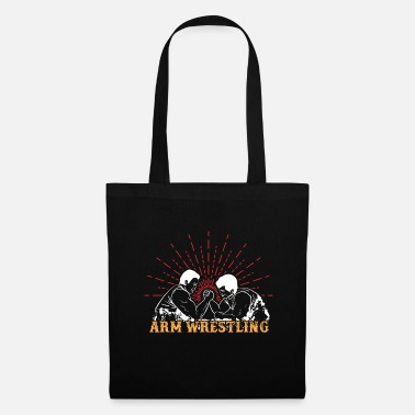 Poor Arm wrestling, muscles, biceps, power, sports, fitness - Tote Bag