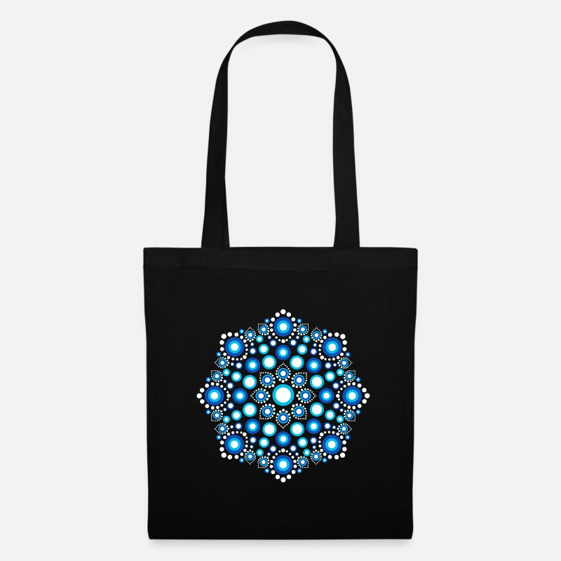 Mandala Bags & Backpacks - Color Dots, Dot Art, Mandala, Yoga, Meditation - Tote Bag black