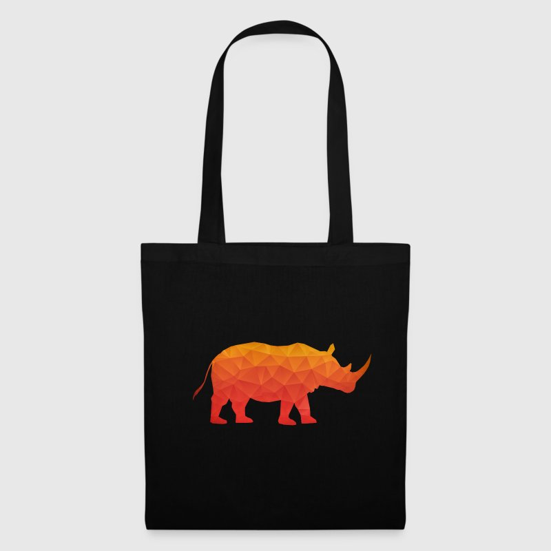Retro Triangle Origami Rhinoceros / Rhino - Tote Bag