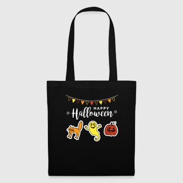 Clown Happy Halloween Doodle Pumpkin Face Ghost - Tote Bag