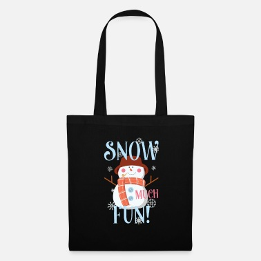 Chicos Snow Much Fun Snowman Christmas Snowflakes - Bolsa de tela