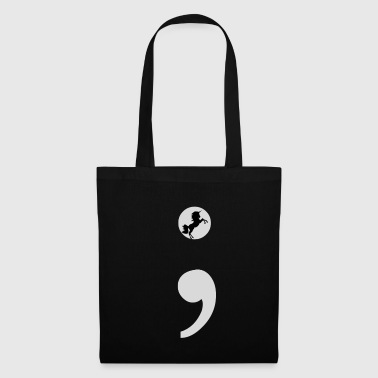 Semicolon Unicorn Gift Semicolon Depression - Tote Bag